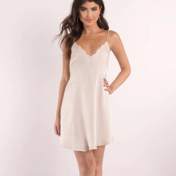 e9c22ffb127a0 Tobi Dresses | Blush Scalloped Slip Dress | Poshmark